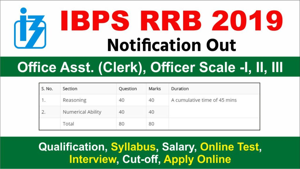 ibps rrb 2019 application form last date